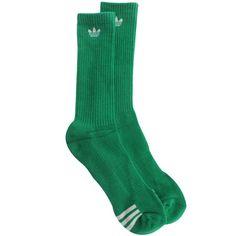 Adidas Originals Crew Socks (fairway / white) Q18134 - $5.99