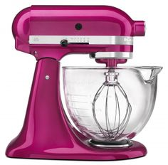 WIN this KitchenAid Raspberry Ice Stand Mixer. #giveaway on www.simplebites.net #cookforthecure