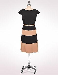 Plus Size Belted Colorblock Dress | Dressbarn