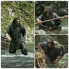 Richard Armitage as Thorin Oakenshield in The Hobbit Trilogy Behind The Scenes The Hobbit Movies, O Hobbit, Tolkien Books, Jrr Tolkien, Bagginshield, Fili And Kili, Wet And Wild, Desolation Of Smaug, Thorin Oakenshield