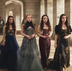 Lyanna and Sansa's dresses are Greer and Kenna's dresses for their father's Hand of the king Coronation Ceremony
