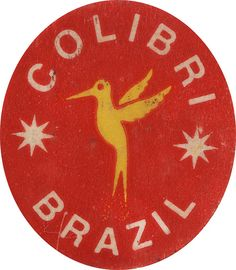 Colibri Brazil (fruit sticker) Vintage Graphic Design, Vintage Type, Graphic Design Posters, Vintage Designs, Vintage Packaging, Vintage Labels, Typography Inspiration, Typography Design, Banana Sticker