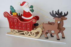 Beautiful wooden Advent Calendars  Santa & by BeachesKids on Etsy, $35.00