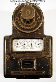 Prepay electric meter, 1907
