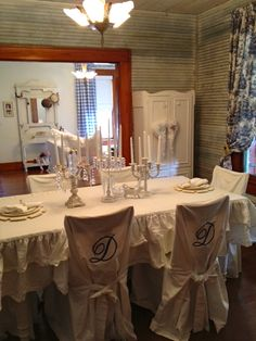 Shabby Chic dining room at the Rock Cottage B & B