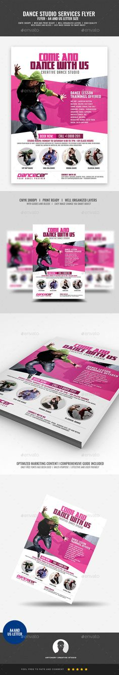 Dance Studio Promotion Flyer Design Template Boost your company¡¯s sales and attract new customers! This Dance Studio Promotion Flyer Design Template have been developed to boost your Ultimate Marketing Opportunity and brand/product awareness, Perfect for large and small businesses, well-studied with
