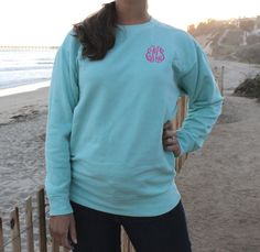 Comfort Colors Monogrammed Sweatshirt by SEmbroideredBoutique
