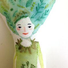Woodland Sprite Art Doll por abigailhalpin en Etsy