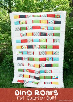 I love this Fat Quarter Quilt via createcraftlove.com