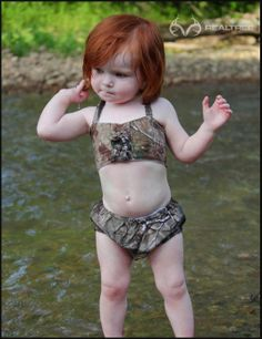 Realtree Camo Swimsuits For Babies #Realtreecamo