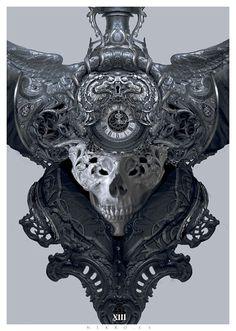 Time, Nekro . on ArtStation at https://www.artstation.com/artwork/bdW6o