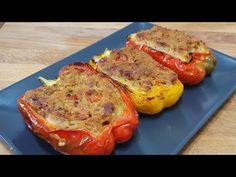Vegetable Salad, Vegetable Recipes, Best Stuffed Pepper Recipe, Eggplant Zucchini, Chef Work, Romanian Food, Antipasto, Finger Foods, Food Videos