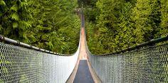 Capilano Bridge im Kanada Reiseführer http://www.abenteurer.net/2063-kanada-reisefuehrer/
