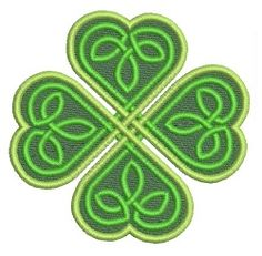 Celtic Shamrock - 4x4 | St. Patrick's Day | Machine Embroidery Designs | SWAKembroidery.com VK-Digitizing