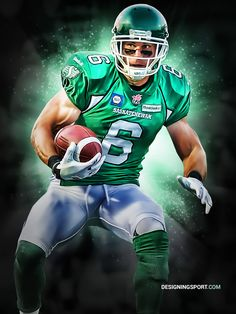Amazing to see this fellow Kingston man on here! Pure Football, Canadian Football League, Football Tailgate, Best Football Team, American Football, Football Players, Football Helmets, Go Rider, Saskatchewan Roughriders