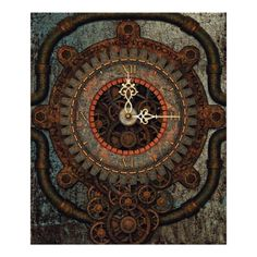 Steampunk Clock Framed Print. Art for your Wall. Gears and Cogs, Mechanical, Engineering, Metal, Industrial, Gift, machinery, shop, buy online, for sale, home decor, interior design