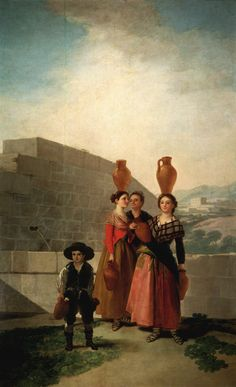 Francisco de Goya ~ De waterdraagsters ~ 1791-1792 ~ Olieverf op doek ~ 262 x 160 cm. ~ Museo Naçional del Prado, Madrid