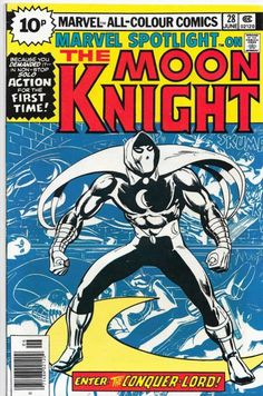 Marvel Spotlight 28 First Solo Moon Knight Key Issue Bronze Comic Book Werewolf Marvel Comic Books, Comic Book Characters, Comic Book Heroes, Comic Character, Comic Books Art, Comic Art, Book Art, Marvel Heroes, Marvel Fan