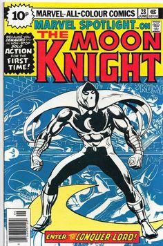 Marvel Spotlight 28 First Solo Moon Knight Key Issue Bronze Comic Book Werewolf Marvel Comic Books, Comic Book Heroes, Comic Books Art, Comic Art, Book Art, Marvel Heroes, Marvel Fan, Moon Knight Comics, Vigilante