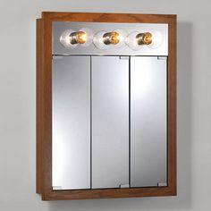 Jensen Medicine Cabinet Granville Tri View 3 Light 24w X 30h In Surface