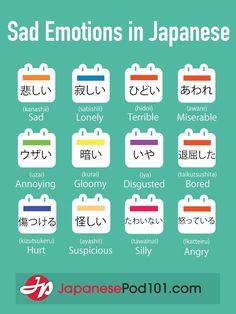 Japanese  Sad emotions