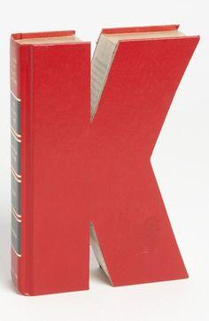 'Letter' Hand-Carved Book Shelf Art | Nordstrom