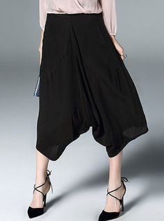 Casual Loose Ankle-length Wide Leg Pants