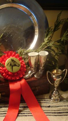horse show ribbons and silver  The Polohouse