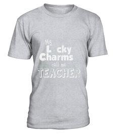 Lucky Charms Teacher School Tshirt T-shirt T-Shirt  Funny School T-shirt, Best School T-shirt