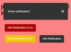 notification.js is a really simple and easy-to-style #jQuery plugin that provides dismissable, auto-close, growl-style alerts and messages for your webpages.