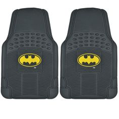 Warner Brothers BDK Batman Floor Mats 2-Piece Officially Licensed Products