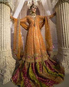 Bridal Photoshoot of Beautiful Ayeza Khan Bridal Mehndi Dresses, Mehendi Outfits, Pakistani Wedding Outfits, Indian Bridal Outfits, Bridal Dress Design, Pakistani Bridal Dresses, Wedding Dresses For Girls, Pakistani Dress Design, Girls Dresses