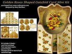 Golden Roses Shaped Gatefold Card Mini Kit
