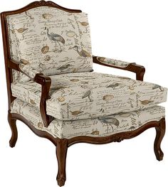 Elisabeth Stationary Occasional Chair by La-Z-Boy in Greenhouse Fabric A3220 Seamist