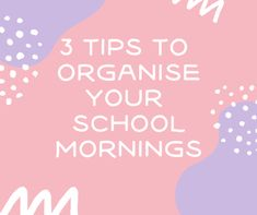 3 tips for less stressful school mornings & Giveaway!