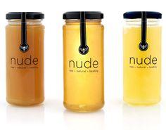 Nude Bee Honey Packaging. Love it!