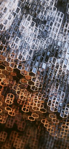 1125x2436 Structure, metallic, hexagonal grid wallpaper