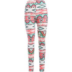 Skinny Christmas Print Leggings ($6.56) ❤ liked on Polyvore featuring pants, leggings, skinny trousers, white legging pants, skinny leg pants, white trousers and skinny fit pants