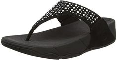 FitFlop Women's Novy Toe Post Flip Flop, black, 8 M US -- Continue to the product at the image link.