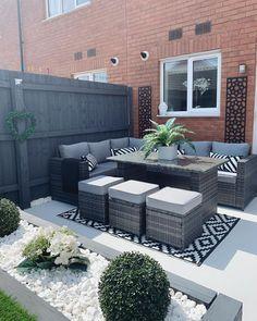 Backyard Seating, Backyard Patio Designs, Small Backyard Landscaping, Backyard Ideas, Small Backyard Design, Garden Ideas, Pond Ideas, Landscaping Ideas, Small Outdoor Patios