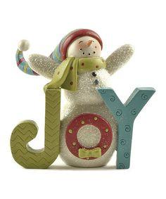 'Joy' Snowman Figurine
