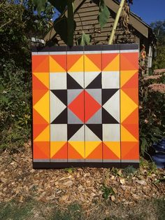 Barn Quilt Patterns to Paint Barn Quilt Designs, Barn Quilt Patterns, Quilting Designs, Halloween Quilts, Painted Barn Quilts, Barn Signs, Block Painting, Barn Art, Old Barns