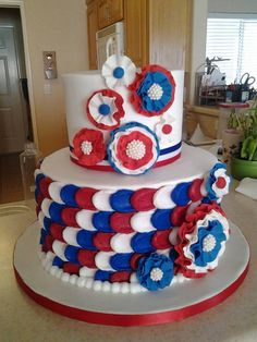 1000 images about american flag cakes on pinterest 4th for American flag cake decoration