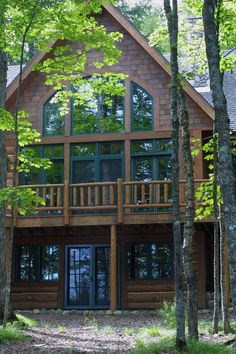 Large windows facing the lake are alway a feature homeowners like. Proper placement and design are always a needed detail to consider.