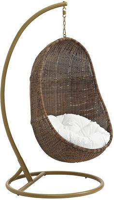 The Well Appointed House Brown Outdoor Egg Swing Chair