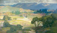 Franz Bischoff Arroyo-Seco-Pasadena American Landscape Painting almost bought this for 17000 in 1987 at butterfields. damn