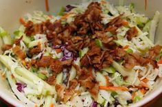 For the Love of Food: Poppyseed Bacon and Apple Coleslaw