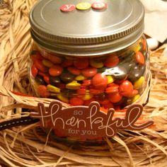 Candy jar gift: Great for teacher gifts!