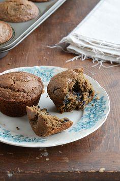 Blueberry, Buckwheat + Chia Seed Muffins {gluten-free; naturally sweetened} from Faith at www.anediblemosaic.com