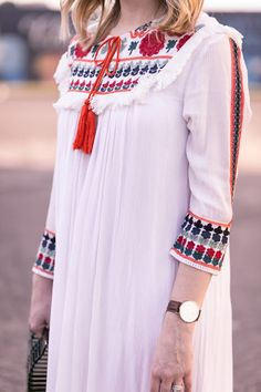 Chantik White Embroidered Dress | Pretty in Pink Megan